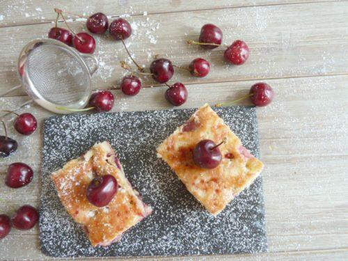 gâteau moelleux aux cerises