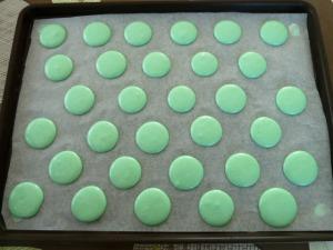 macarons avant cuisson