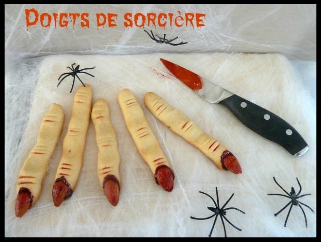 doigts de sorciere halloween