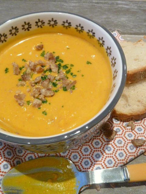 soupe potimarron chataignes