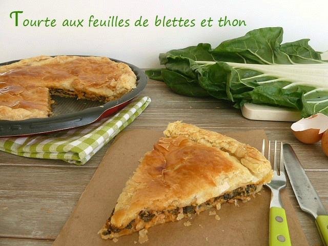 tarte aux feuilles de blettes et thon