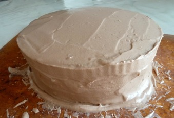 Ganache Nutella Pour Layer Cake