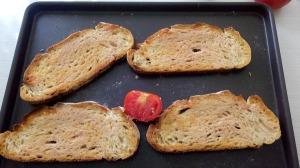 pain de campagne pour bruschetta