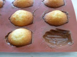 madeleines coques chocolat