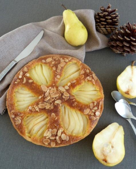 tarte aux poires amandine