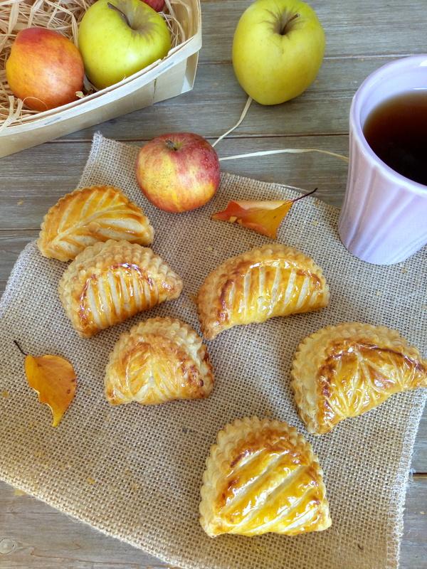chaussons feuilletés aux pommes