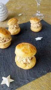 chou apéritif au foie gras
