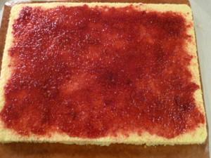 Buche roulée chocolat framboises