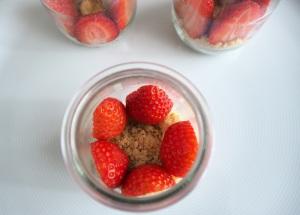 verrines fraises chocolat