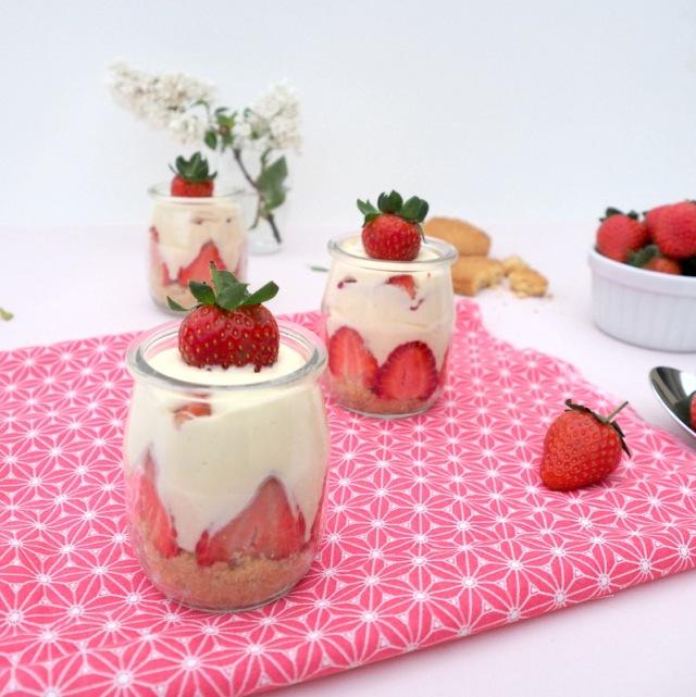 verrines fraises mascarpone