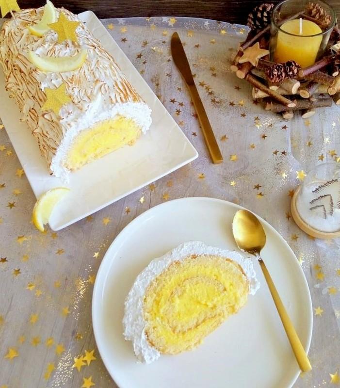 buche citron meringuée