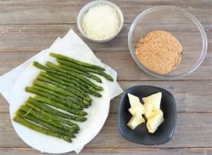 cheescake aus asperges et parmesan
