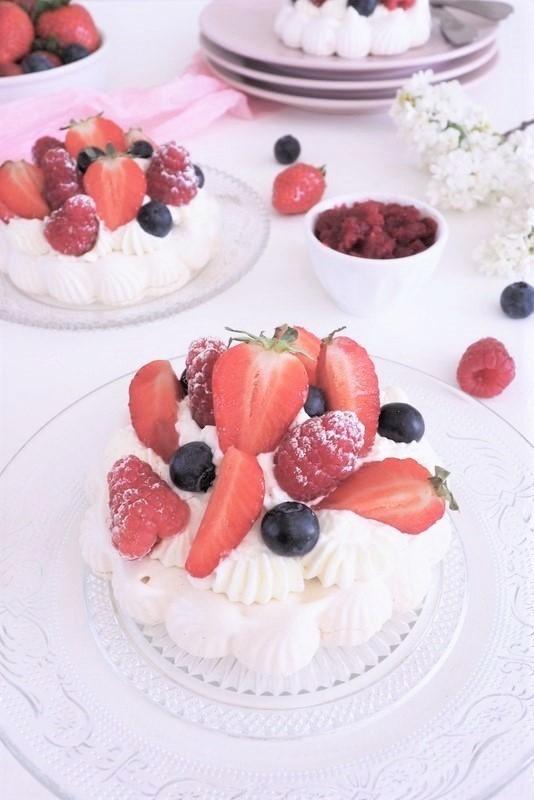 pavlova fraises framboises
