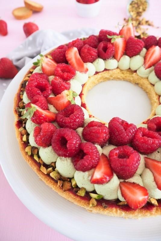 tarte framboises fraises - les petits secrets de lolo